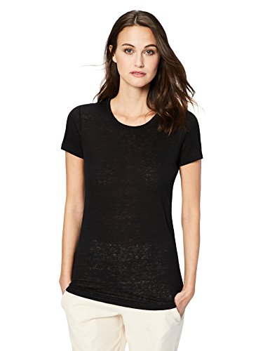 Daily Ritual Women's 100% Linen Short-Sleeve Crew Neck T-Shirt