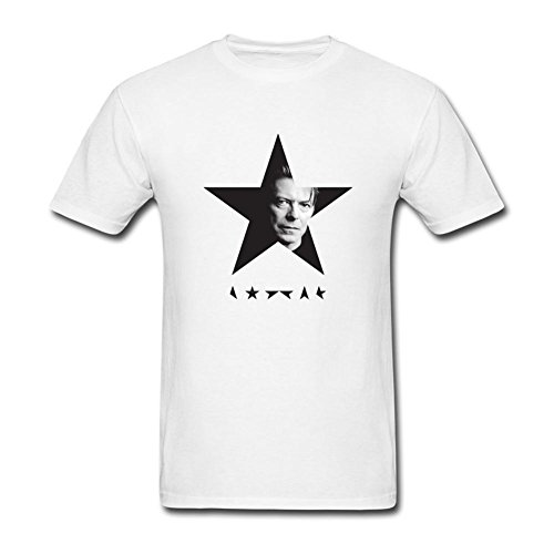 Feixia Men's David Bowie DIY Cotton Short Sleeve T ()