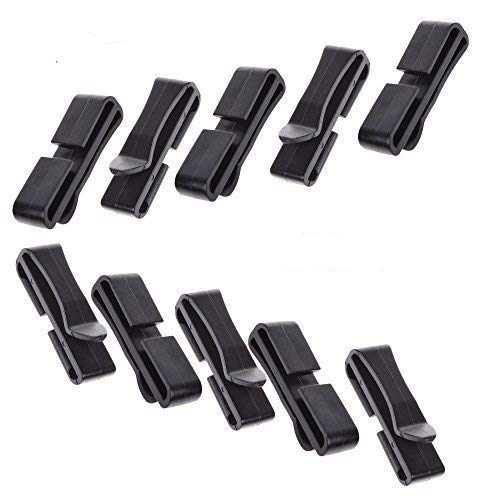LUTIONS Pack of 20pcs Webbing Ending Clip Quick Slip Keeper Connect Buckle for Backpack Adjusting Strap Black (1