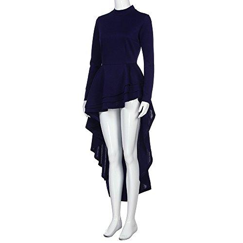 d668bb53f0 Goddessvan Women Short Sleeve High Low Peplum Dress Bodycon Party Club Asymmetrical  Dress