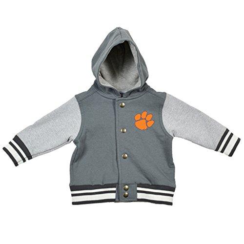 NCAA Clemson Tigers Children Unisex Infant Letterman Jacket, 12 Months, Pewter/Oxford