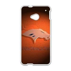 Denver Broncos HTC One M7 Cell Phone Case White SVD_545344