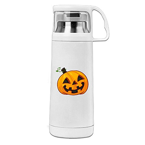 Karen Garden Halloween Happy Pumpkin Stainless Steel Vacuum Insulated Water Bottle Leak Proof Handled Mug -