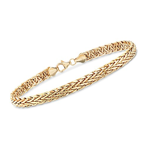 Ross-Simons Certified 14kt Yellow Gold Braided Wheat Bracelet