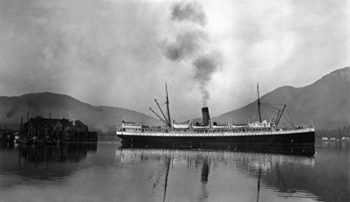 (Alaska - View of the SS Alameda on the Inside Passage (12x18 Art Print, Wall Decor Travel Poster))