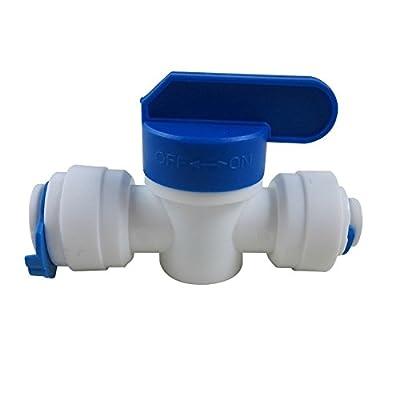 "TmallTech 3/8""x1/4"" Tube Ball Valve Quick Connect Shut Off for RO Water Reverse Osmosis from tmalltech"