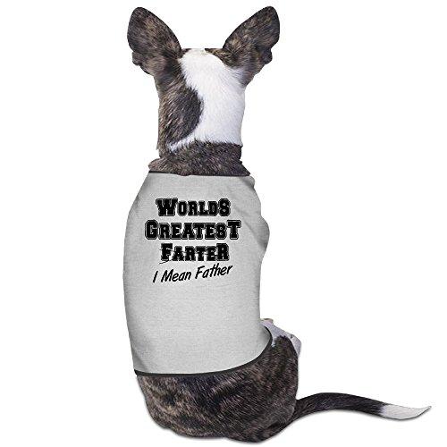 YRROWN World's Greatest Farter, I Mean Father Dog Sweater (Spirit Halloween Utah)