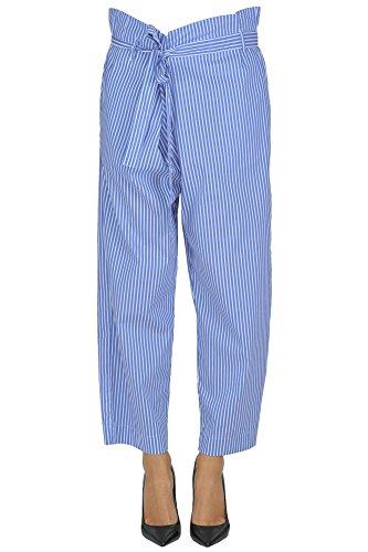 P.A.R.O.S.H. Pantaloni Donna MCGLPNP03041E Cotone Azzurro