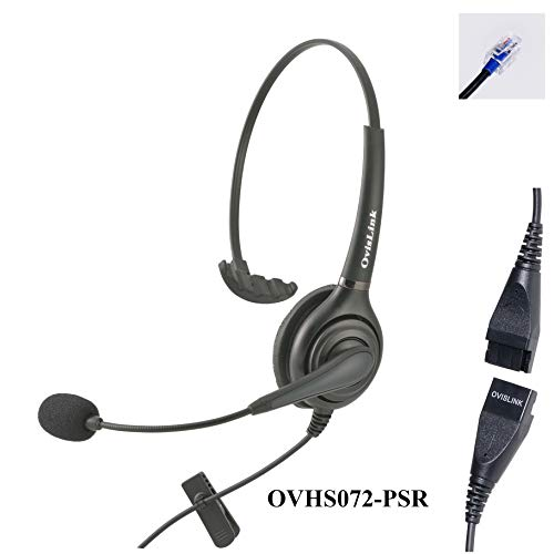 Polycom IP Phone Headset with RJ9 Quick Disconnect Cord for Call Center