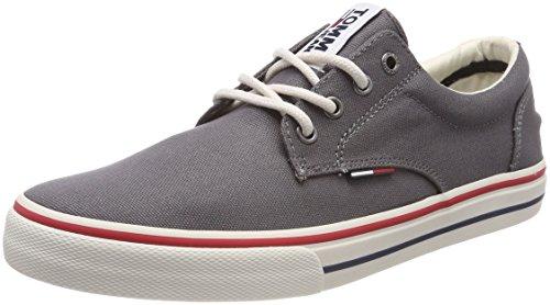 Gris Zapatillas Para Tommy Hombre Grey Sneaker steel Textile 039 Jeans UYxqBa6