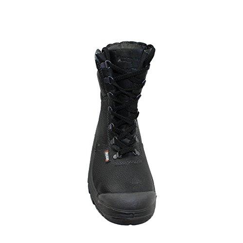 Auda - Calzado de protección de Piel para hombre Negro negro negro