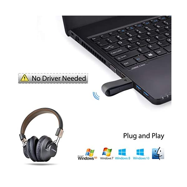 Avantree Leaf aptX Low Latency Adaptateur Bluetooth PS4 PS5, Dongle Bluetooth USB pour PC Nintendo Switch Windows Mac…