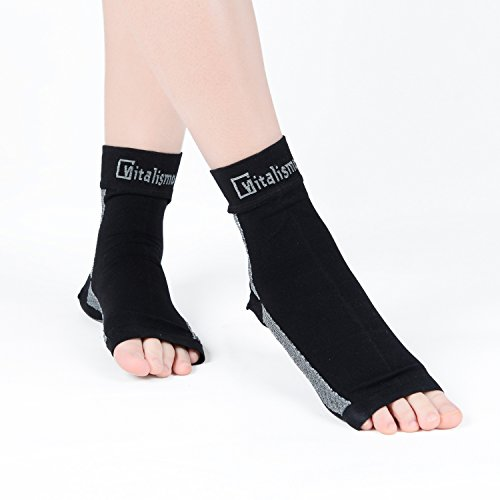 Vitalismo Plantar Fasciitis Socks Foot Care Compression Sock Sleeve with Arch & Ankle Support and Heel Hugger Increases Circulation, Eases Swelling & Acts Relieve Pain for Men & Women S - XL size