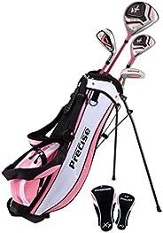 PreciseGolf Co. Precise X7 Junior Complete Golf Club Set for Children Kids - 3 Age Groups Boys & Girls - R
