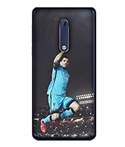 ColorKing Football Suarez Uruguay 04 Multicolor shell case cover for Nokia 5