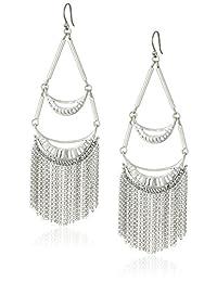 Lucky Brand Silver Fringe Drop Earrings