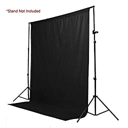 StudioFX Muslin Backdrop 100% Cotton Photography Photo by Kaezi Photo (Black Muslin - 10ft x 10ft)