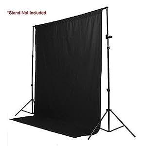 StudioFX Muslin Backdrop 100% Cotton Photography Photo by Kaezi Photo (Black Muslin - 10ft x 10ft)