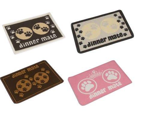 (Pet Rebellion Dinner Mate - Dog Food Mat - Pink - 40 x 60cm)