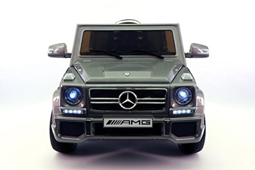 2017 LICENSED MERCEDES G65 AMG ELECTRIC KIDS RIDE-ON CAR, MP3 PLAYER, AUX INPUT, RUBBER TIRES, PU LEATHER SEAT WITH 5 POINT SAFETY HARNESS, 12V BATTERY POWER WHEEL, PARENTAL REMOTE | GREY METALLIC