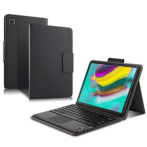 Compatible with Samsung Galaxy Tab S5e 10.5 inch Keyboard Case, BasicStock Detachable Wireless Bluetooth Keyboard Auto Sleep/Wake Magnetic Flip Cover (Black)