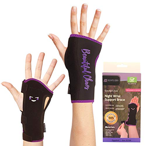 Removable Splint (Night Wrist Brace Carpal Tunnel - Relief & Support Removable Splint Hand Brace Compression Light Weight Adjustable Breathable Fits Left or Right Hand Daytime & Nightime)
