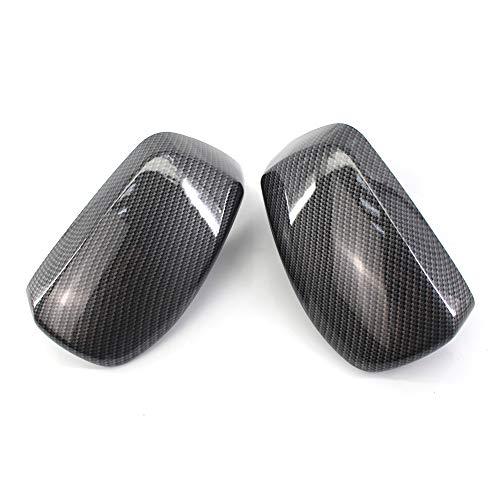 TOOGOO Carbon Fiber reversing Mirror housing Rearview Mirror housings for BMW 5 Series E60 E61 E63 E64 2004-2008 51167078359 51167078360
