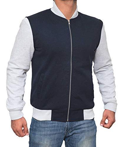 Mens Baby Driver Blue Varsity Jacket - Ansel Elgort Jacket | XL by Decrum