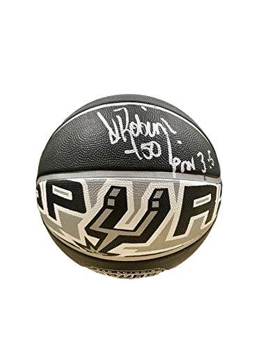 David Robinson Signed Ball - Spalding Logo - JSA Certified - Autographed Basketballs ()