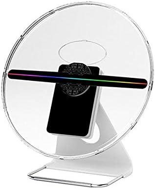 QXTYYGG Proyector Holográfico Holograma 3D 256 LED Portátil Fan ...