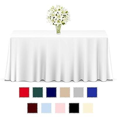 Lann's Linens - 10 Premium Tablecloths Wedding/Banquet/Restaurant - Rectangular Polyester Fabric Table Cloths (Multiple Colors & Sizes)