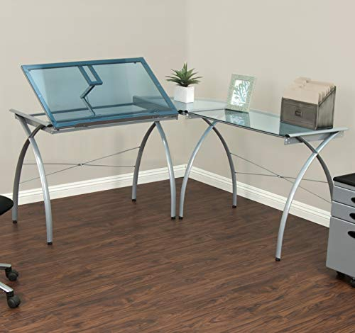 Studio Designs 50306 Futura LS Work Center with Tilt, Silver/Blue - Online Returns Centre