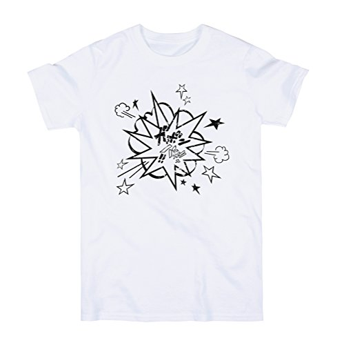Japanese Shirt - Manga Explosion – Japan Kawaii Anime Kanji Comic Print T Shirt - XL - (Japan White Tee)