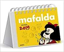 Mafalda 2019 Calendario de escritorio - Amarillo (Spanish