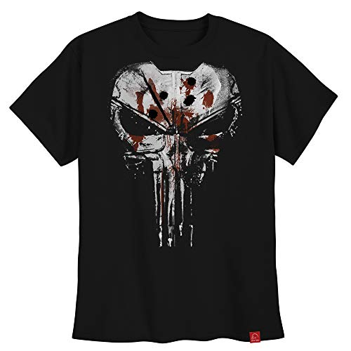 Camiseta Justiceiro Punisher Caveira Colete Frank Castle GG
