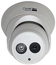 Kenuco H.265 HD Smart 4MP Megapixel PoE Turret IP Outdoor Surveillance Camera | EXIR Night Vision | 3.6mm Lens | White