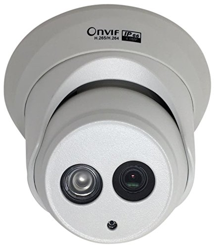 RXCam H.265 HD Smart 4MP Megapixel PoE Turret IP Outdoor Surveillance Camera | EXIR Night Vision | 3.6mm Lens | White (Dynamic Ip Support)