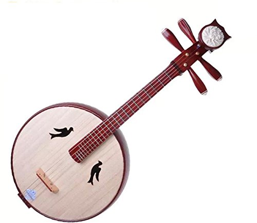 Exquisite Brand New Zhongruan Instrument Chinese Lute Guitar W/ Accessories