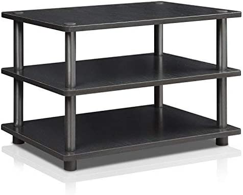 FURINNO Turn-N-Tube Easy Assembly 3-Tier Corner TV Stand