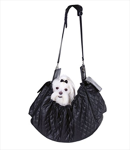 Petote Gigi Sling Pet Carrier, Black Quilted by Petote