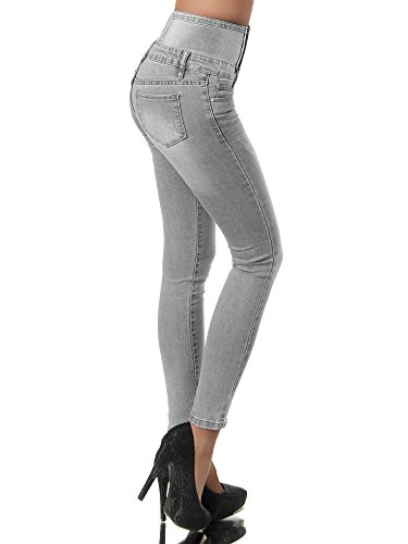 Gris Skinny Jeans Uni Jeans Femme Diva xX8nEpOCX