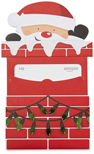 Amazon.com $25 Gift Card in a Santa Chimney Reveal (Santa Gift Card)