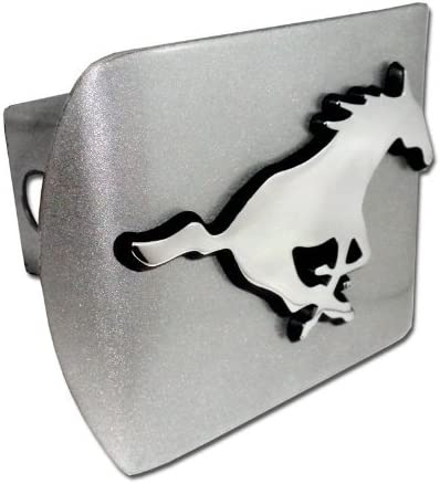 Iowa State Cyclones Brushed Silver with I State Emblem Metal Trailer Hitch Cover Fits 2 Inch Auto Car Truck Receiver with NCAA College Sports Logo