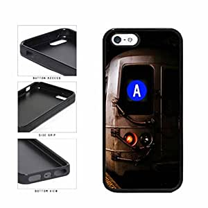 Personalized NYC Train Custom Letter A TPU RUBBER SILICONE Phone Case Back Cover Apple iPhone 5 5s