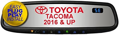 Compass Gentex GENK45AMB5 Plug /& Play for 2016-2018 Toyota Tacoma with Auto-Dimming HomeLink5 /& Blue Backlit Buttons