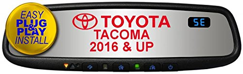 Gentex GENK45AMB5 Plug & Play for 2016-2018 Toyota Tacoma with Auto-Dimming, Compass, HomeLink5 & Blue Backlit Buttons