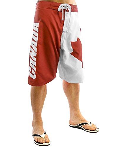Canada Canadian Flag Mens Swim Trunks Board Shorts (S)