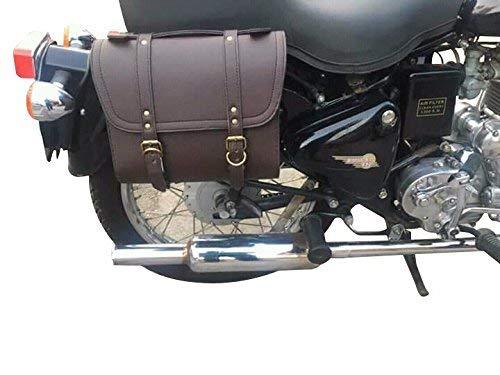 sahara Seat Square Saddle Bag for Royal Enfield (Coffee Brown, SAHARABAG01)