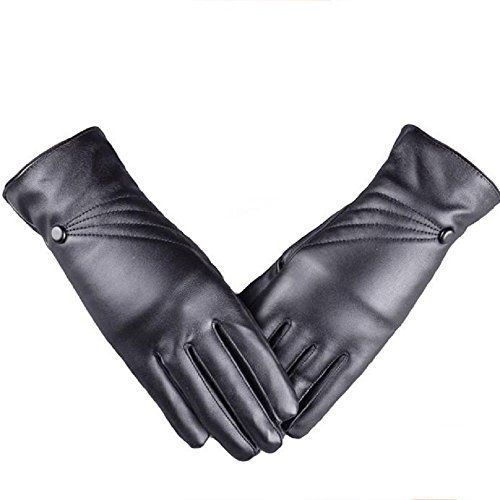 [Luweki Luxurious Women Girl Leather Winter Super Warm touch screen Gloves Cashmere] (Costume Design For Rabbit Hole)