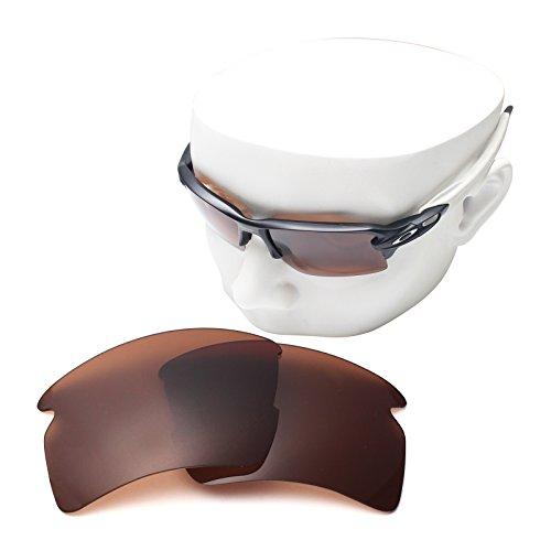 OOWLIT Replacement Sunglass Lenses for Oakley Flak 2.0 XL Brown - Custom Cut Sunglass Lenses